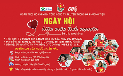 """Sắp diễn ra """"Ngày hội hiến máu tình nguyện VTC 2020"""""""
