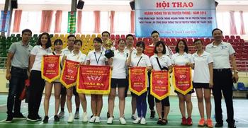 Kết thúc Hội thao chào mừng Ngày Truyền thống và Ngày Thành lập Công đoàn Thông tin và Truyền thông Việt Nam