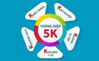 """Bộ Y tế khuyến cáo """"5K"""" chung sống an toàn với dịch bệnh"""